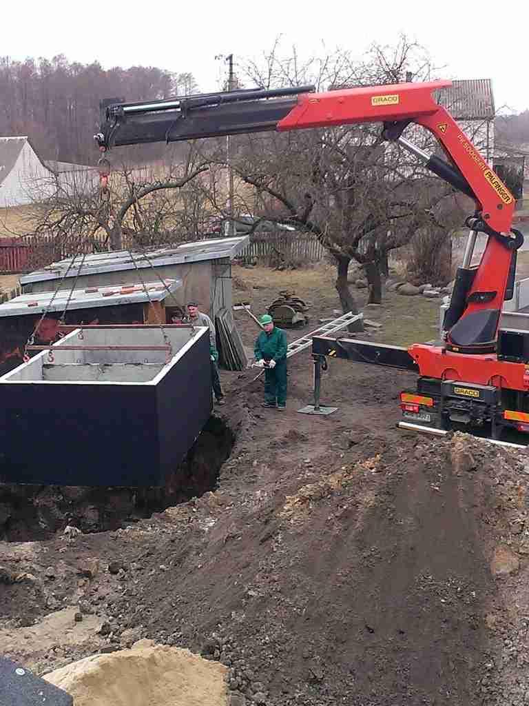 betonova jimka - montaz do vykopu